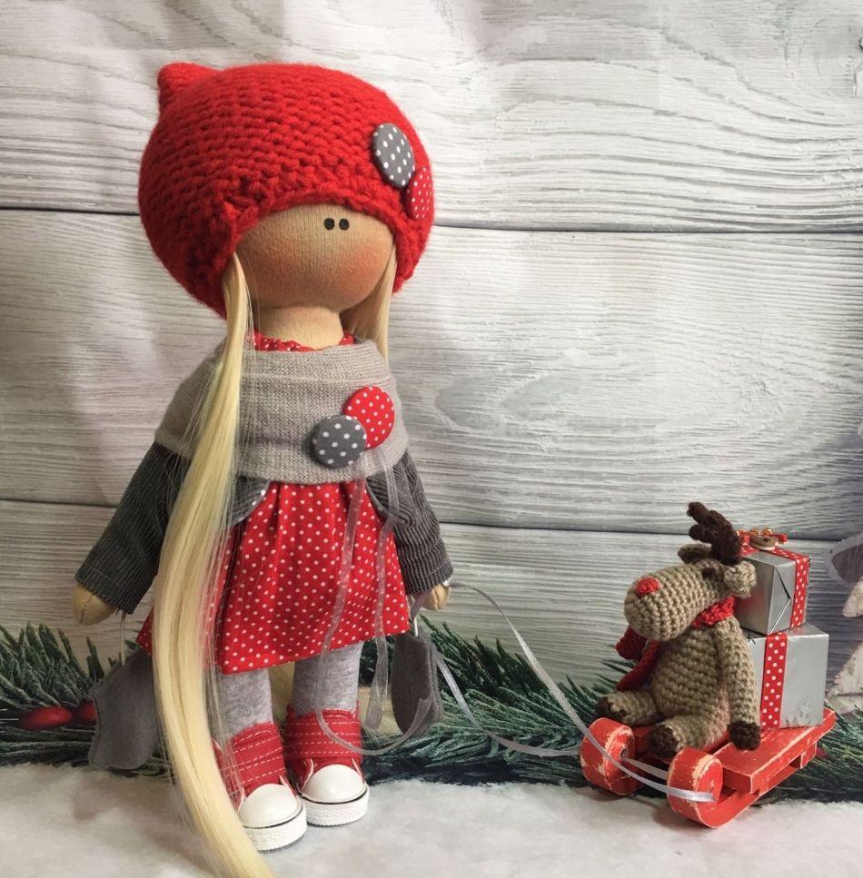 Как сшить красивую куклу текстильную, интерьерную ...