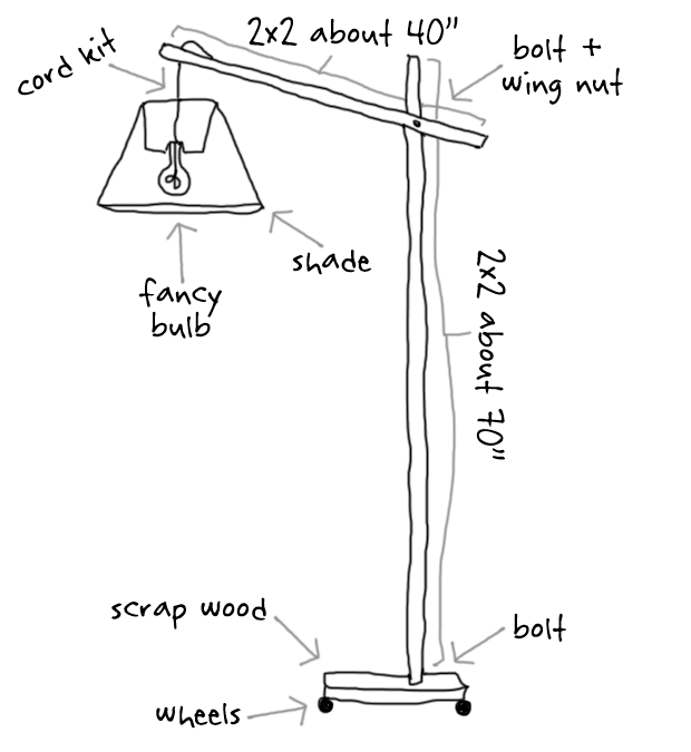 DIY: World Market Lookalike Wooden Floor Lamp | Wooden floor lamps ...