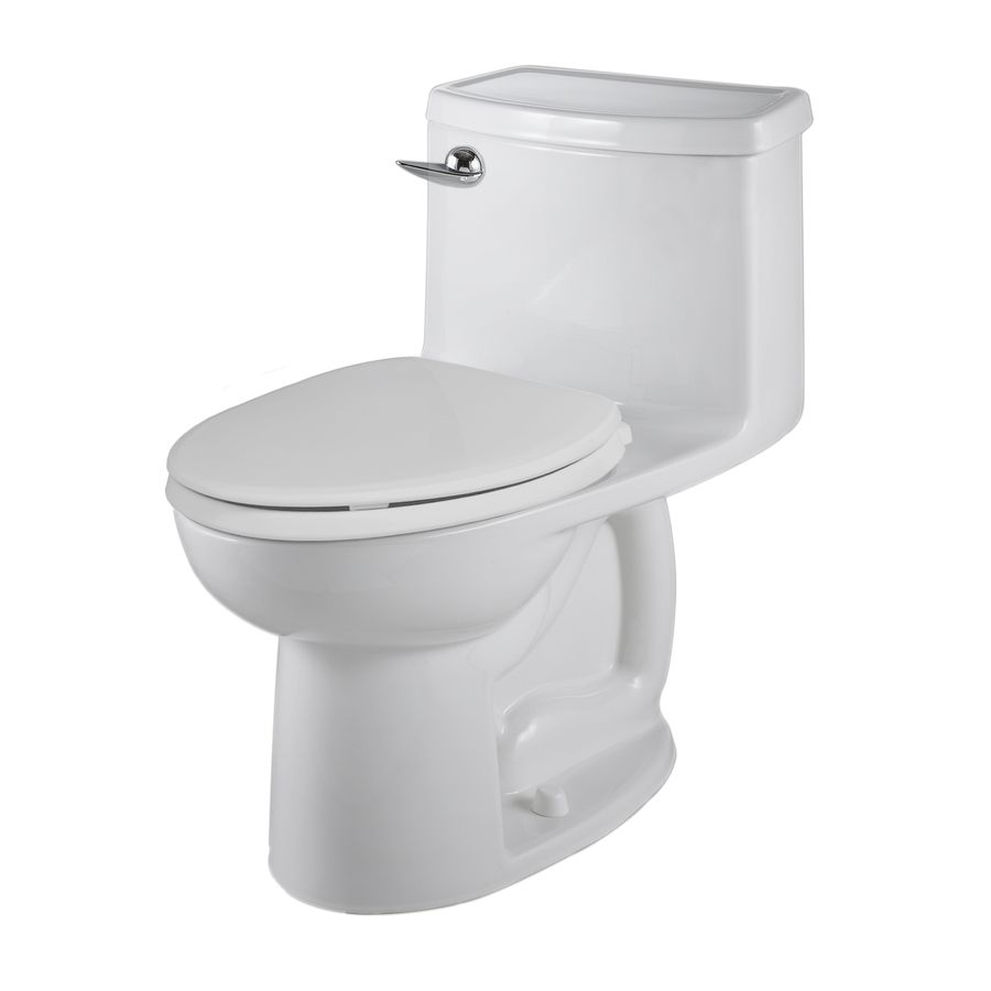 American Standard Saver White Watersense Labeled Elongated Chair Height 1 Piece Toilet 12 In Rough In Size Water Sense Space Saving Toilet Chair Height