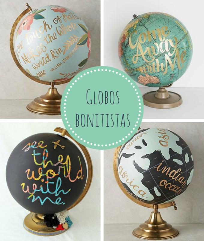 Algunas ideas para convertir un globo terr queo en un for Globo terraqueo decoracion