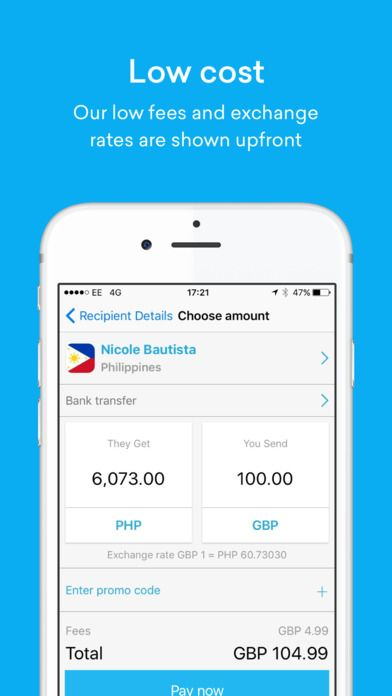 Image result for International Money Transfer app