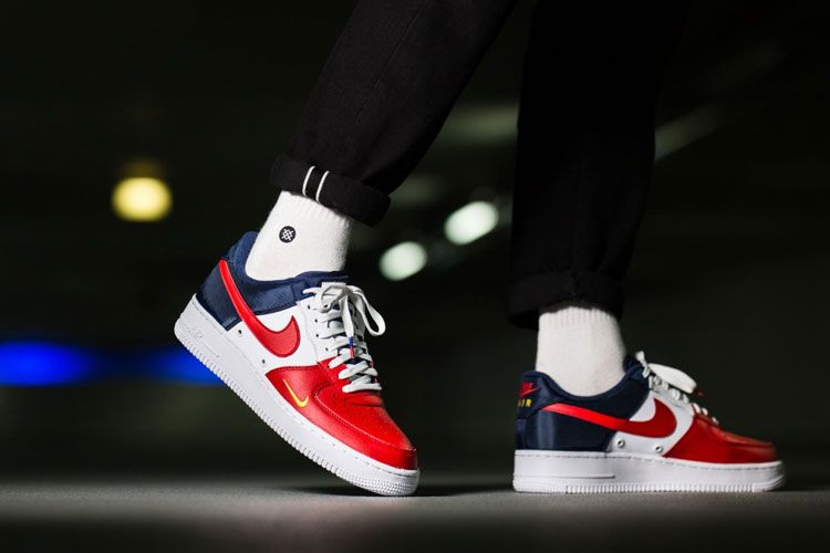wholesale dealer eb8a7 c9b7f Nike Air Force 1 Low 07 LV8 release date shoes with high-grade leather with  foam cushioning outsole combination, the use of red, white, blue  representative ...