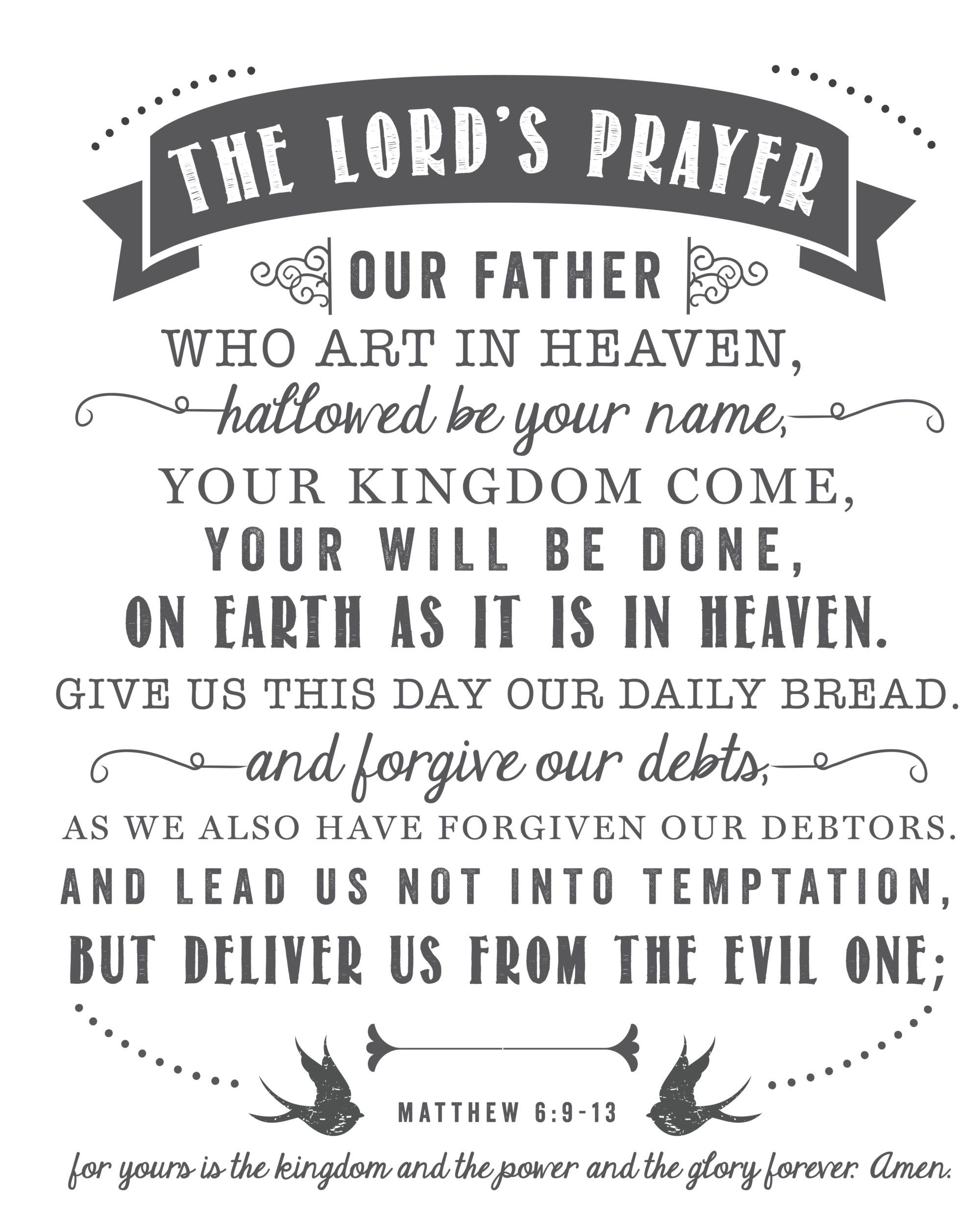 Free The Lord's Prayer printable by Sincerely, Sara D.