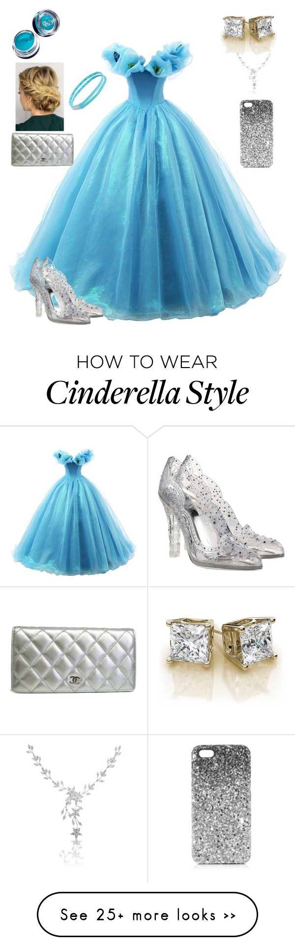"""Cinderella"" by pinksparkleamazing on Polyvore featuring moda, Dolce&Gabbana, Zella, Maybelline, Chanel e Topshop"