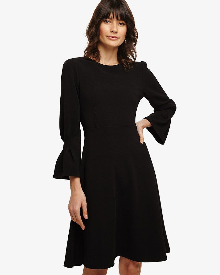 9a762d36992 Wholesale Phase Eight Dresses Sale - Black Raya Ribbed Swing Dress  https   www