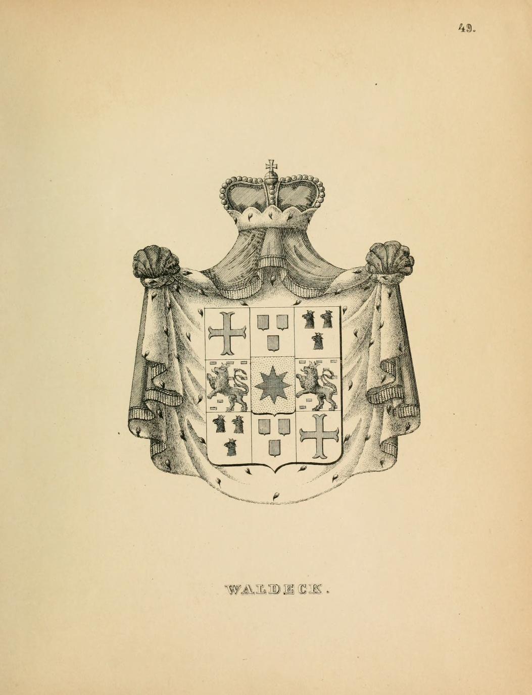 Waldeck Sketches, Heraldry, Male sketch