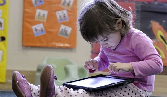 Survey shows that most two-year old's are capable of using touch screens and can swipe, unlock, and actively search for features on smartphones and tablets.