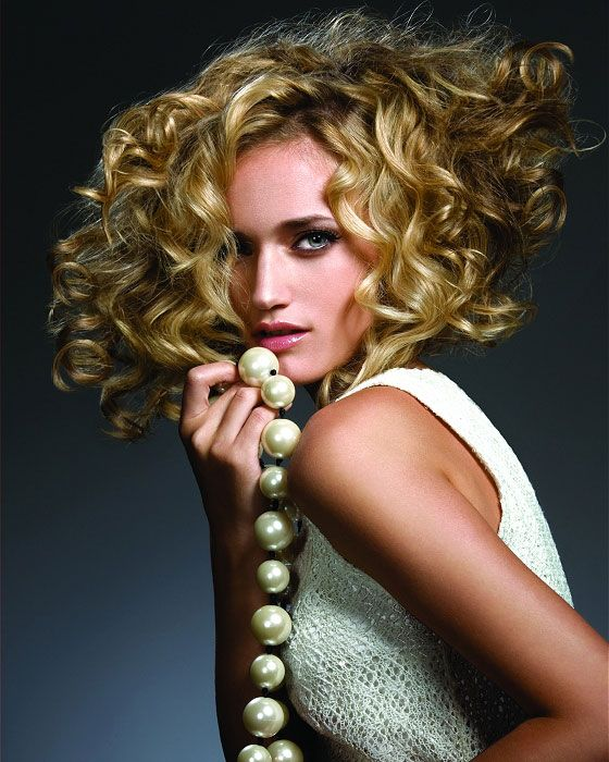 Curly Hairstyle Shoulder Length : Big curl shoulder length perm hairstyle hairstyles to love