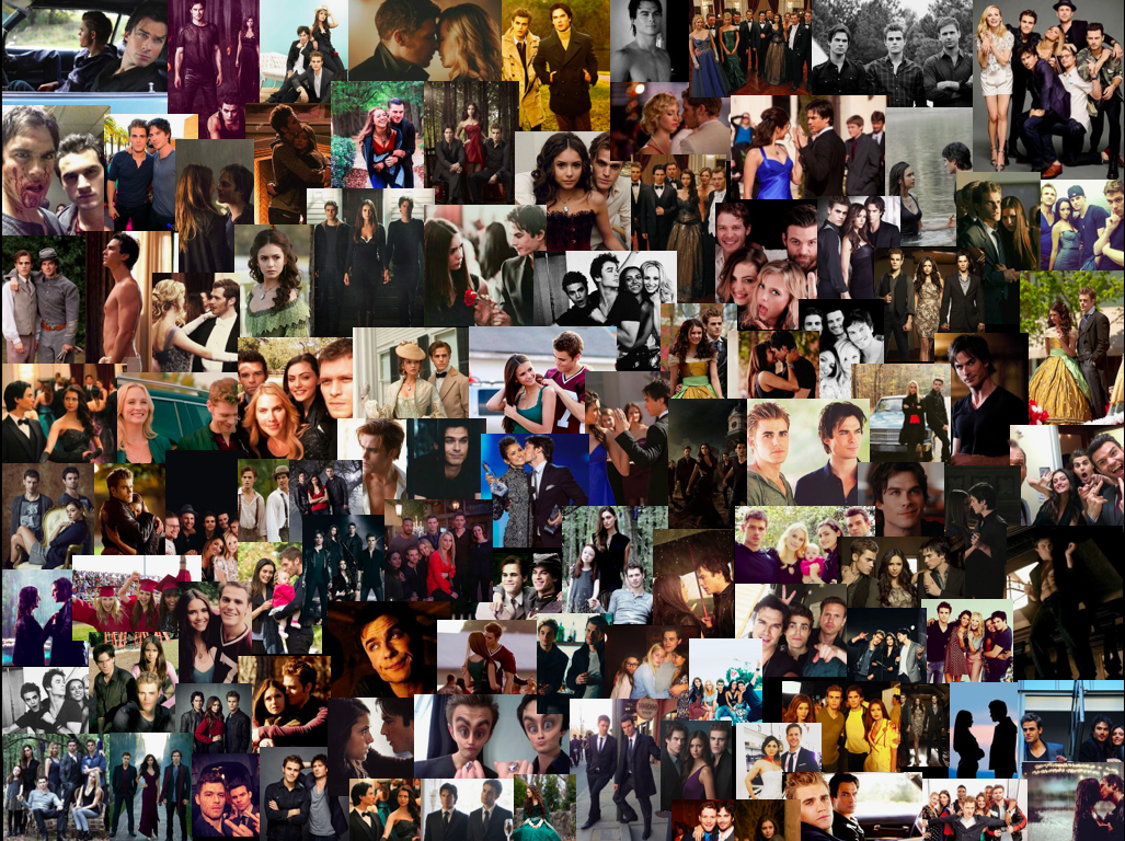 The Vampire Diaries Collage For Laptop Background Vampire Diaries Vampire Tvd