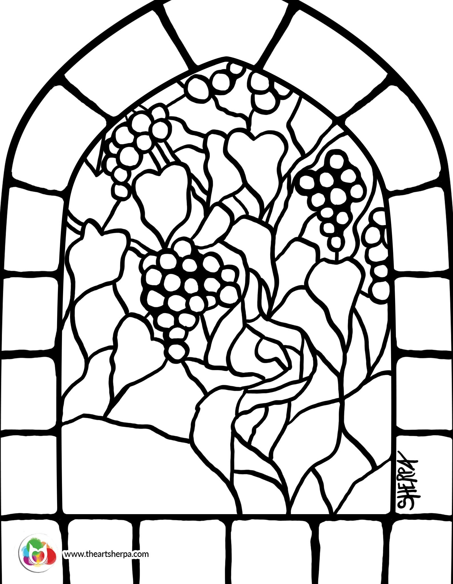 Traceable For The Art Sherpa Stained Glass Grape Vines Youtube