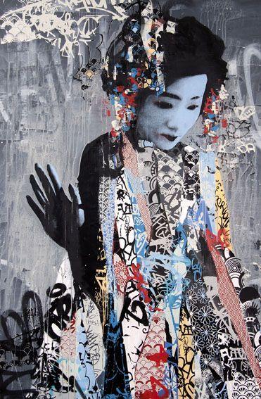 Uk Graffiti Artist Hush Has Made His Stateside Return With Twin A New Exhibition That Recently Opened At New Street Art Graffiti Street Art Amazing Street Art