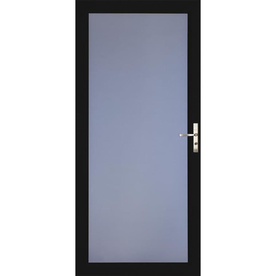 Larson Signature Classic Black Full View Aluminum Storm Door Common 36 In X 81 In Actual 35 75 In X 79 75 In 149040 In 2020 Aluminum Storm Doors Larson Storm Doors Glass Door