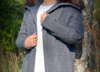 Wloski Sweter Z Futrzanym Kolnierzem Fashion Knitted Scarf Knitted