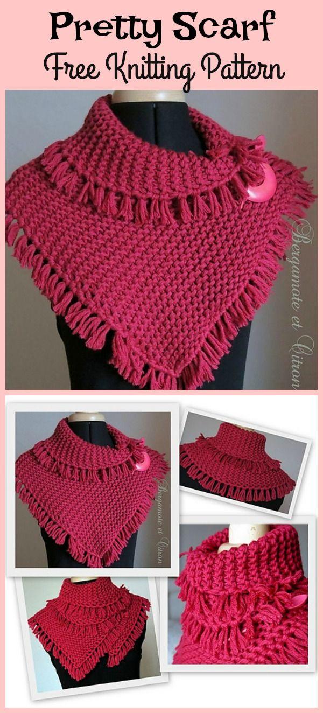 Pretty Tassels Scarf Free Knitting Pattern | Pinterest | Tejido ...