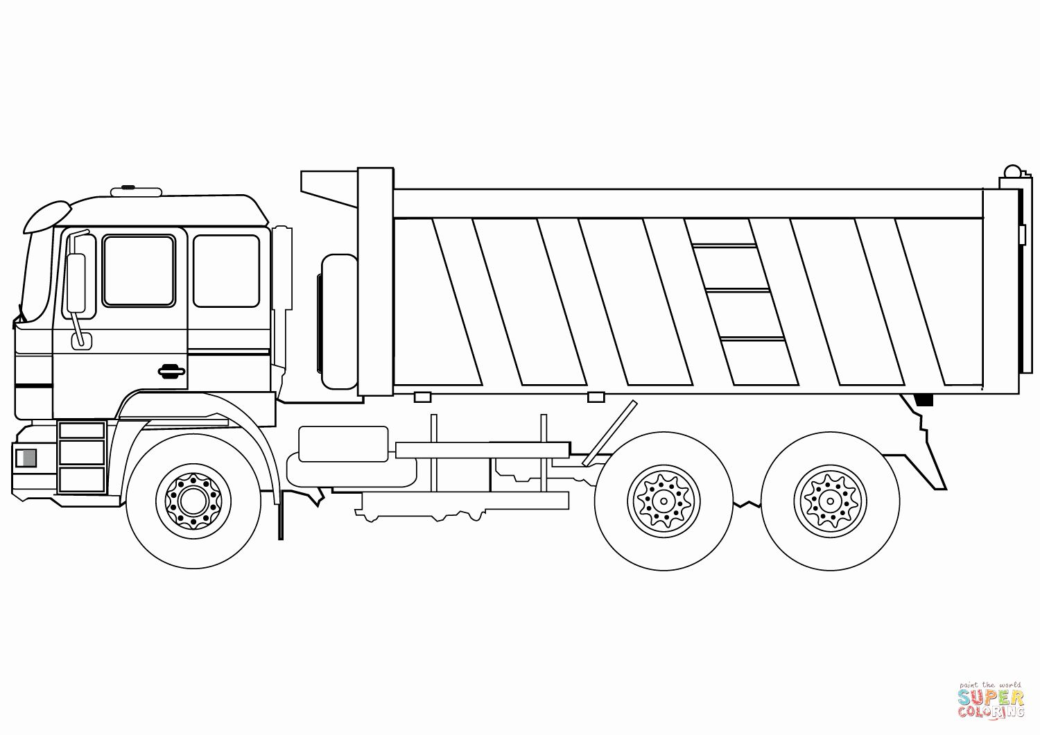 Truck Coloring Pages For Adults Beautiful Dump Truck