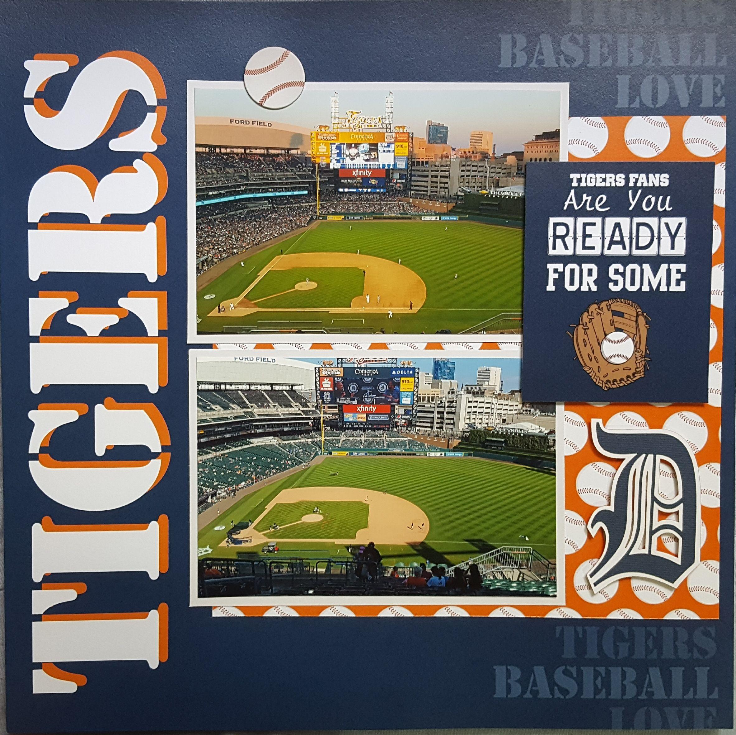 Tigers Baseball Scrapbook Com Baseball Scrapbook Scrapbooking Layouts Travel Scrapbooking Sports