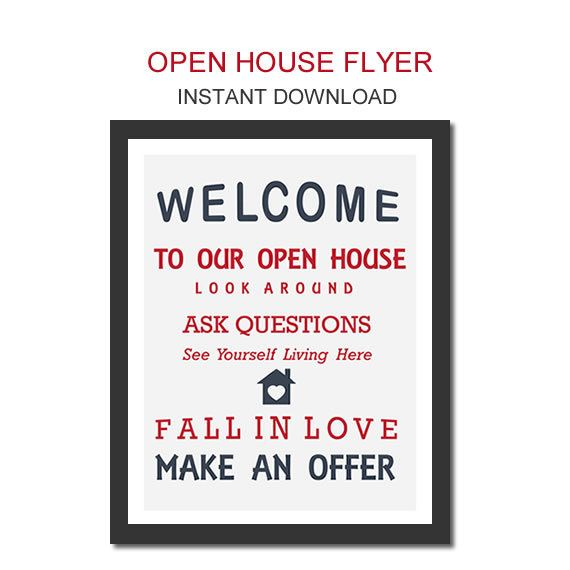 Open house flyer real estate flyer open house open house Flyers