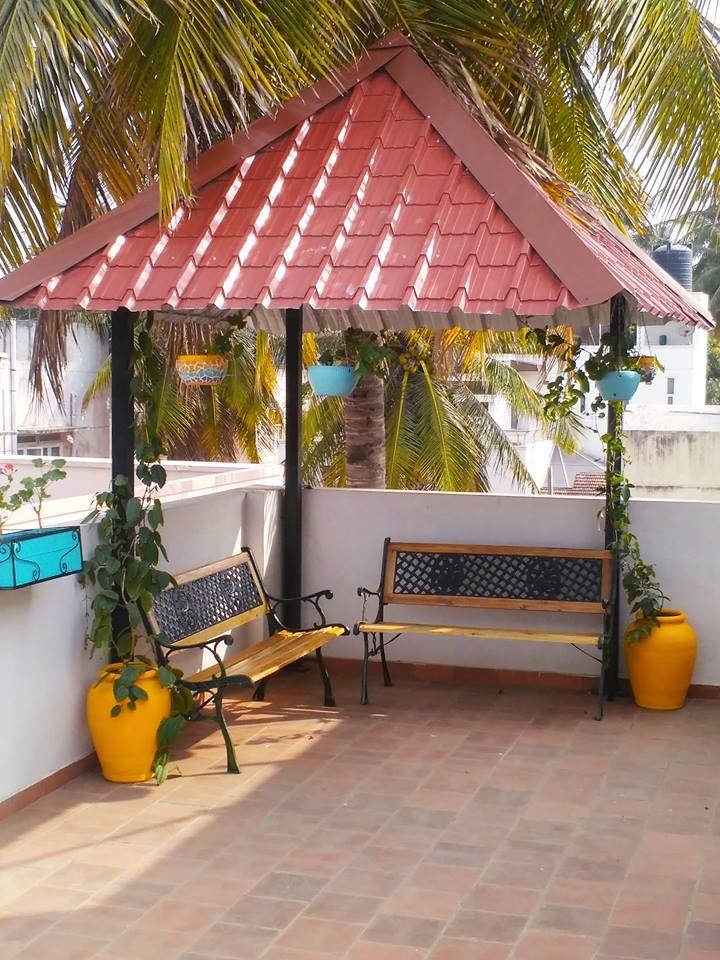 A Corner Space On The Terrace Zen Meditation Space Terrace Decor Balcony Decor Indian Home Decor