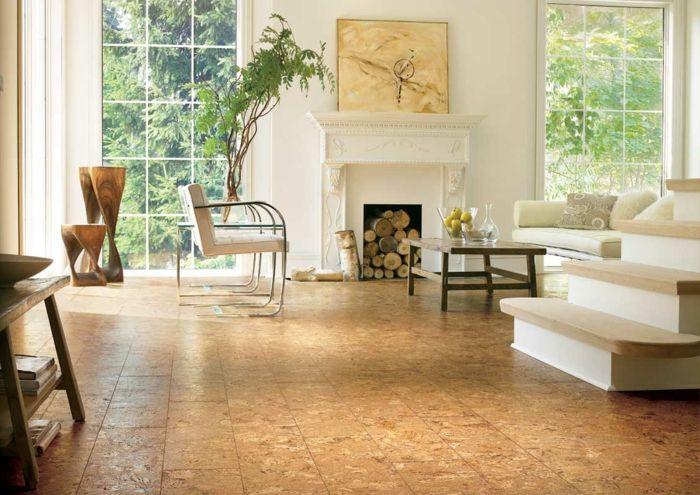 Wohnung einrichten bodenbelag interiordesign korkboden große - Wohnung Einrichten Wie