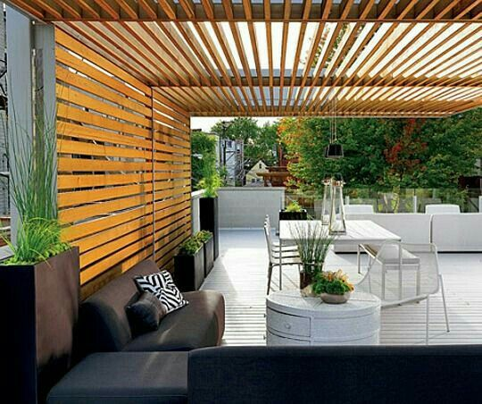 Terrace diy Pinterest Pergolas modernas, Terrazas y Pérgolas
