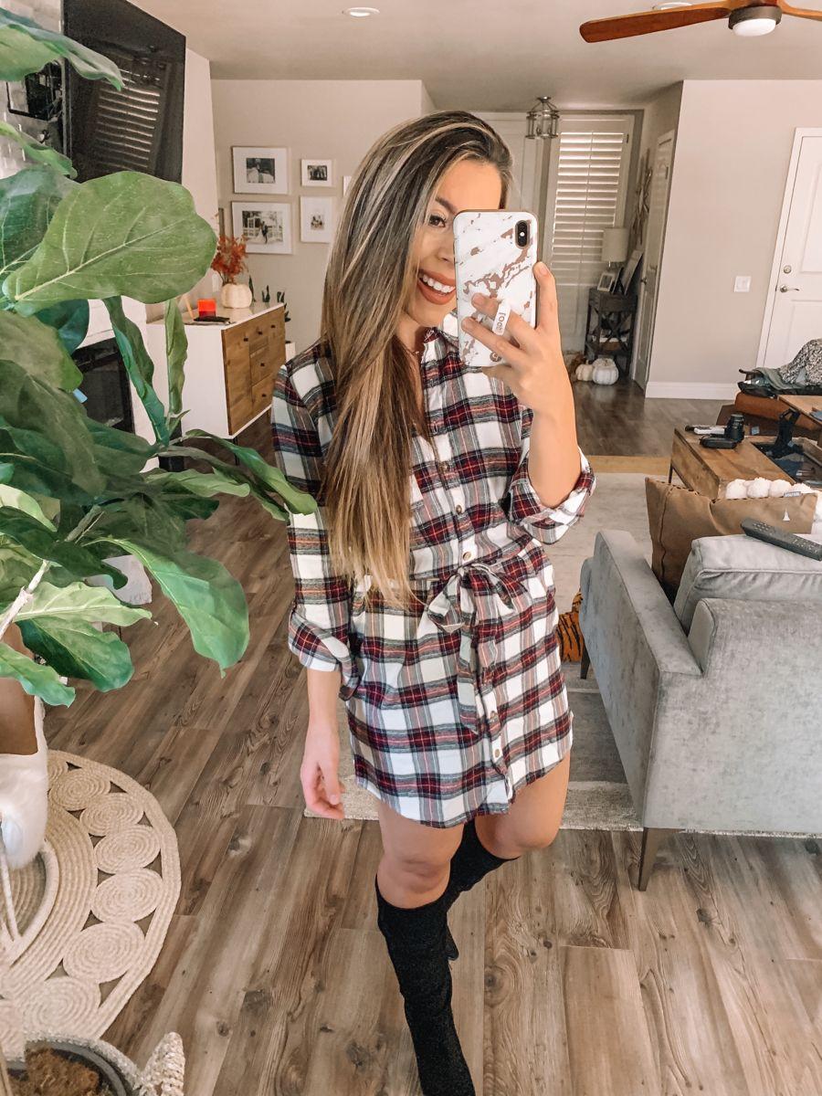 Abercrombie Plaid Dress Flannel Shirt Dress Plaid Dress Dresses [ 1200 x 900 Pixel ]