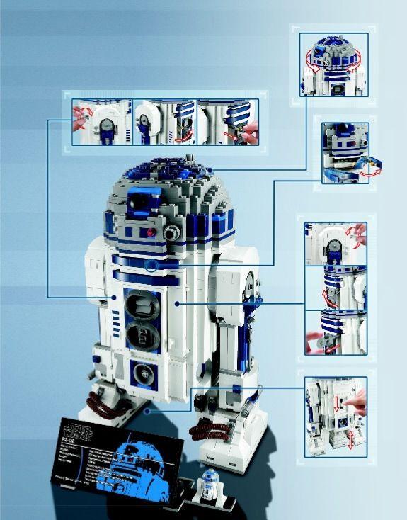 Star Wars R2 D2 Lego 10225 Lego Instructions Pinterest R2