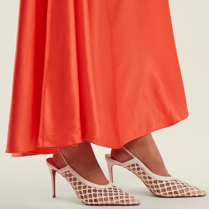 e49d385b77e1 CHRISTIAN LOUBOUTIN X Roland Mouret Cage and Curry 85 leather pumps ...