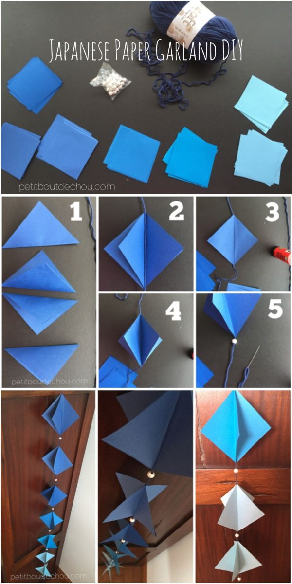 Diy Easy Japanese Paper Garland Craft Community Board Diy