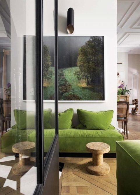 Achtung Grün! archinterior Pinterest Interiors, Pantone and - wohnzimmer design grun