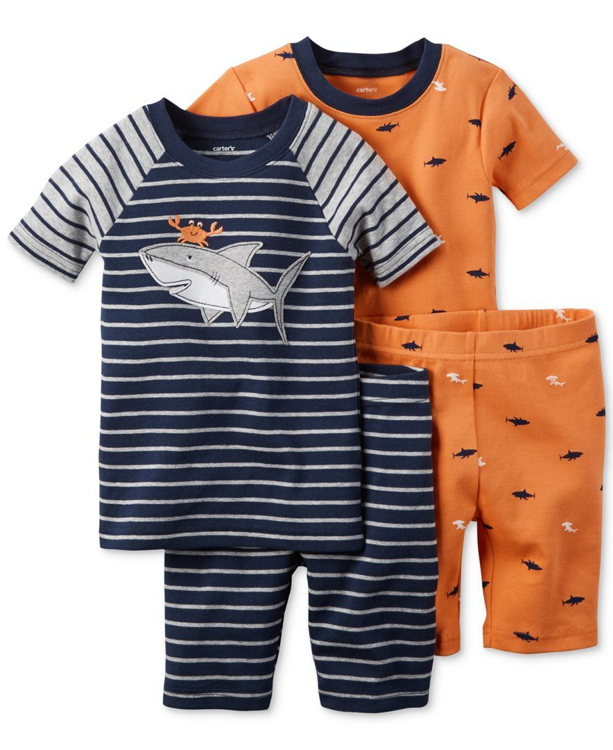 6a59fc1c23d1 Carter s Toddler Boys  4-Piece Crab Shark Pajama Set