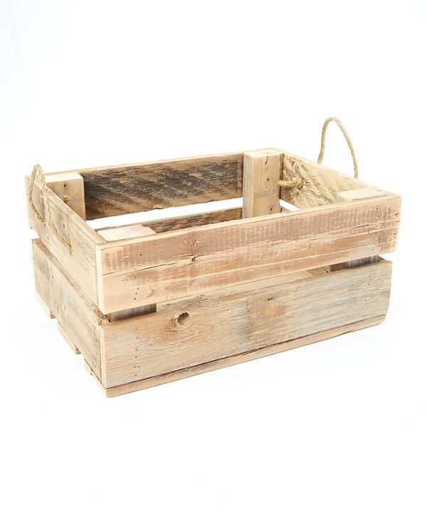 Look at this Rope-Handle Reclaimed Wood Crate on #zulily today!