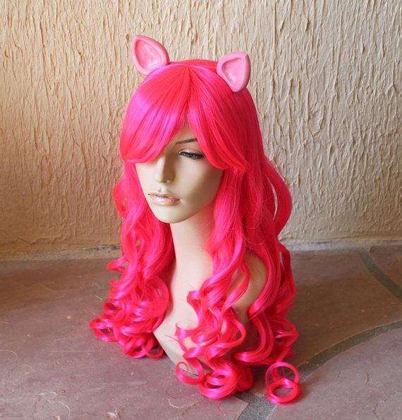 Pinkie Pie costume cosplay wig  Pink curly wig / by GimmCat, $95.00