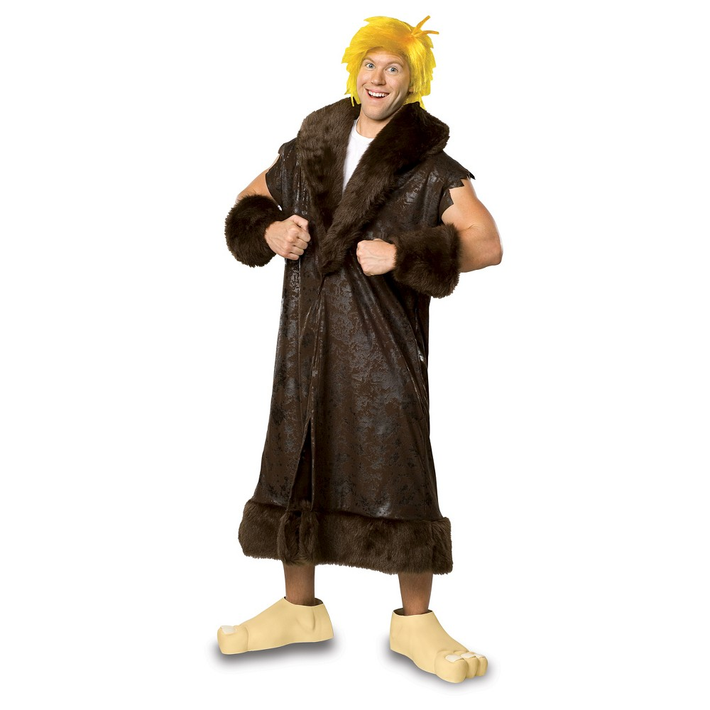 LICENSED ADULT MENS DELUXE BAMM BAMM RUBBLE THE FLINTSTONES FANCY DRESS COSTUME