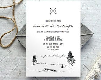camping wedding invitation template printable wedding invitation wedding invite template instant download - Camping Wedding Invitations