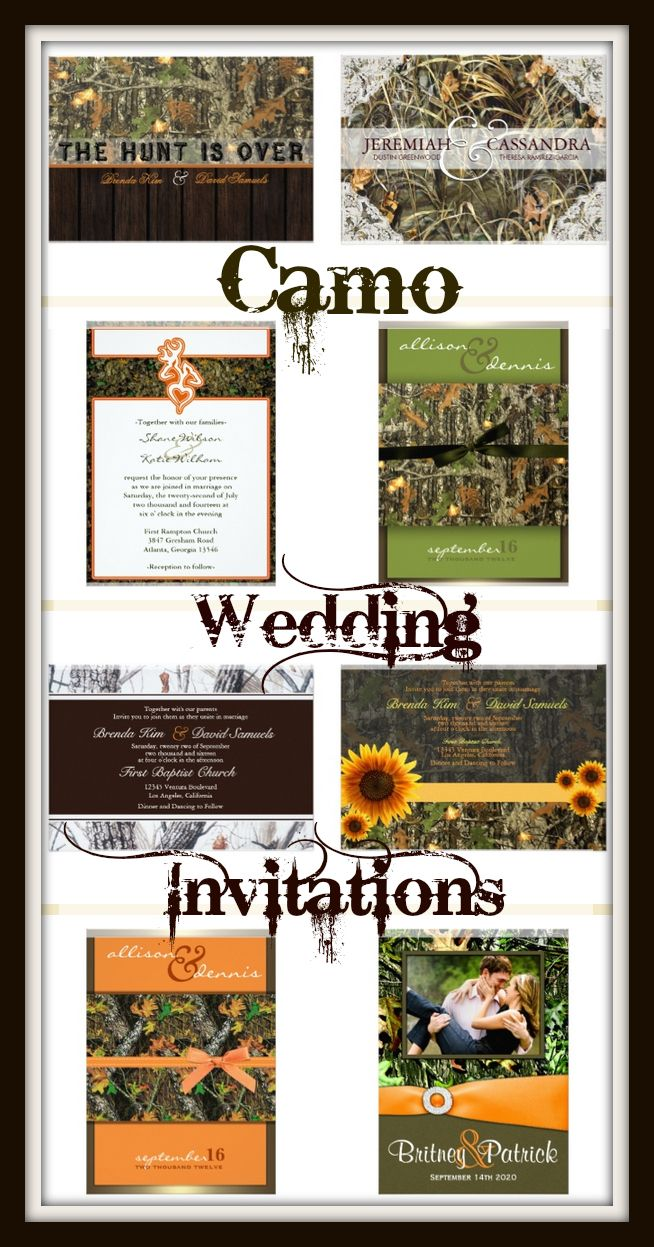 Camo Wedding Invitations For A Rustic Country Hunting Theme Wedding - Wedding invitation templates: camo wedding invitations templates