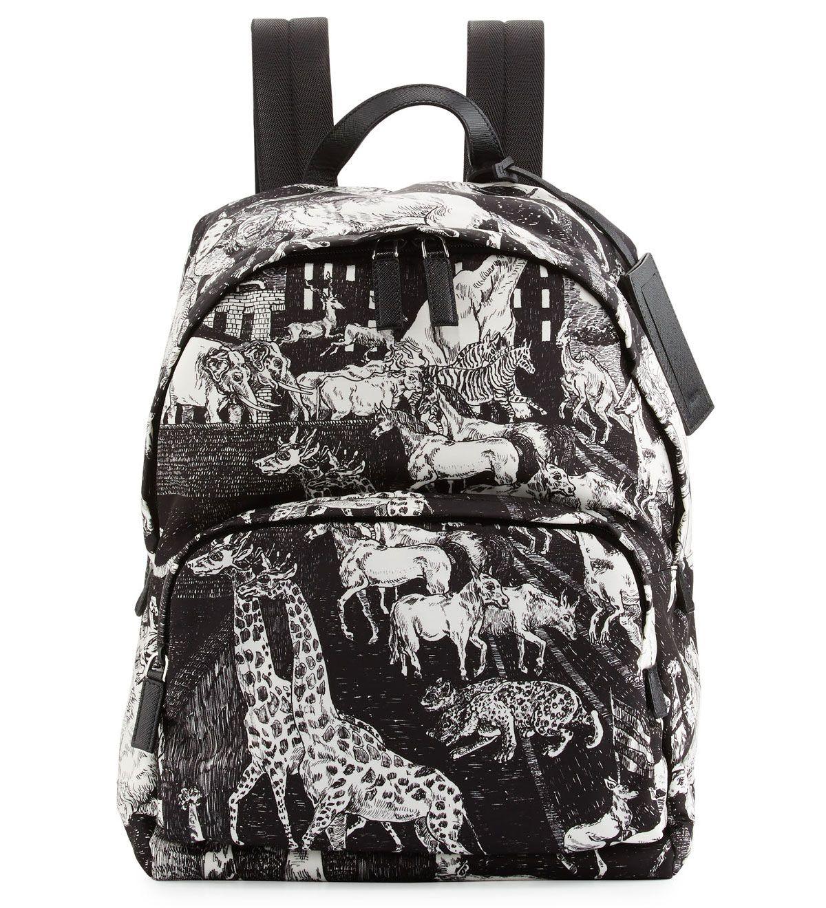 ... closeout prada tessuto animal kingdom backpack black 245.00 2bc25 ef705 0eb22381f3405