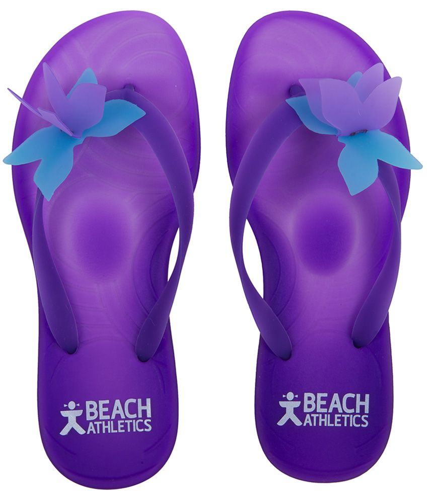 Papillon gel flip flops purple turquoise beach athletics - Most comfortable bedroom slippers ...