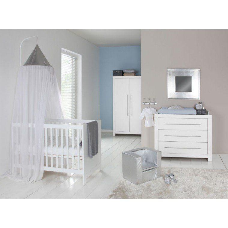 Basicline Vittoria Babykamer Wit Bed 60 X 120 Cm Commode