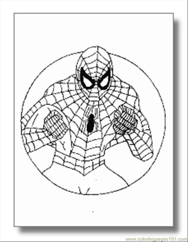 Free printable coloring page spiderman superhero