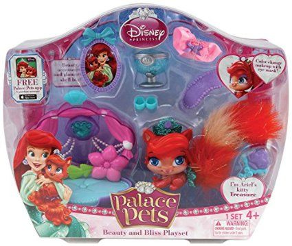 Amazon Com Disney Princess Palace Pets Beauty And Bliss Playset Ariel Treasure Doll T Disney Princess Palace Pets Princess Palace Pets Disney Princess Colors