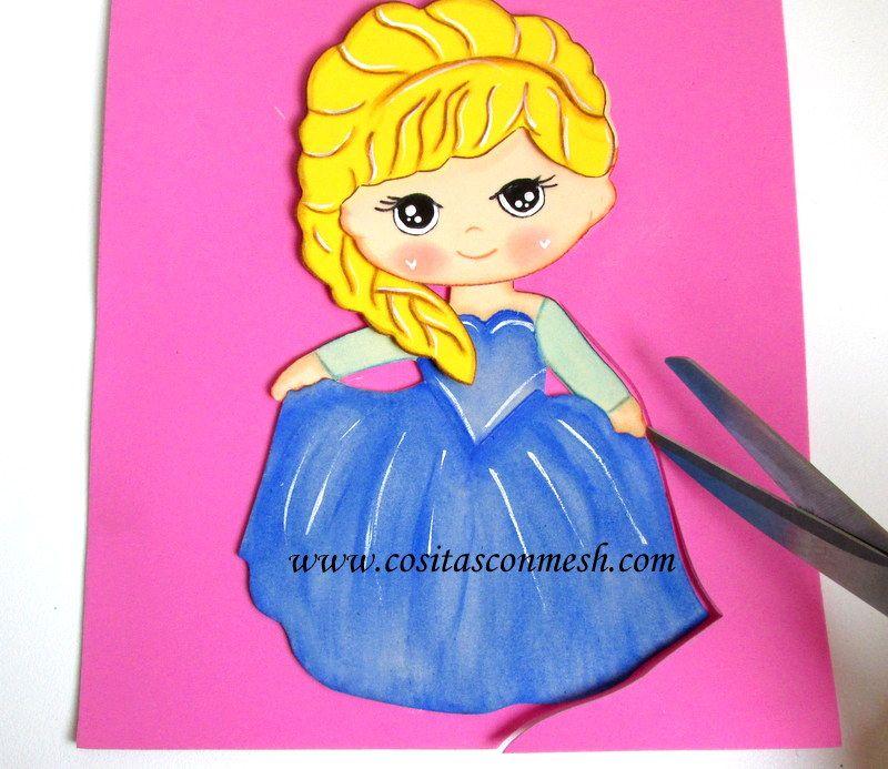 La princesa elsa paso a paso bricolaje y manualidades paso a paso manualidades y - Manualidades y bricolaje ...