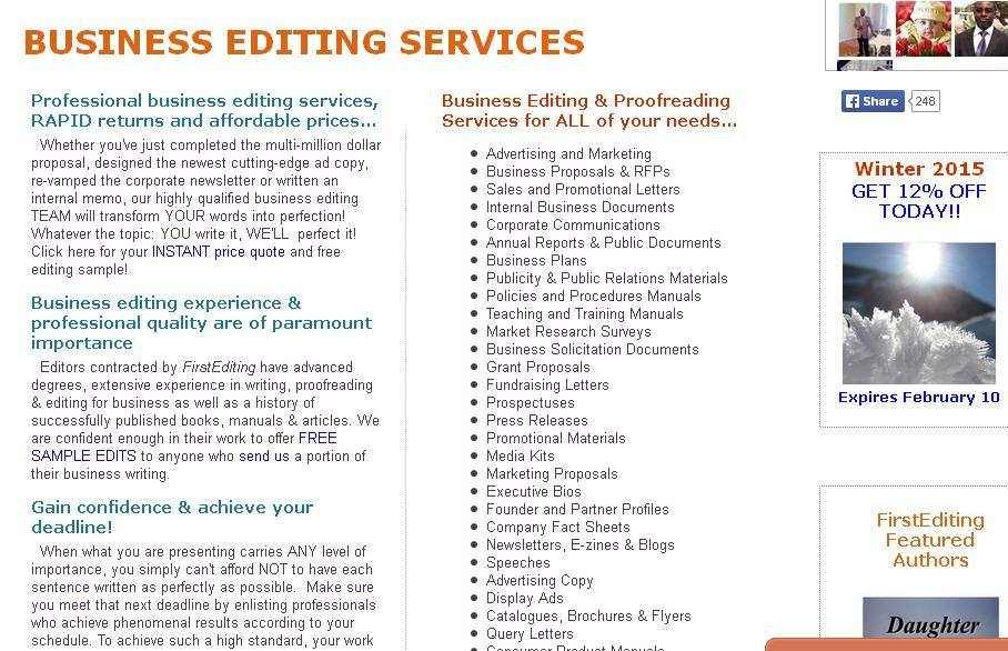 editing services near me