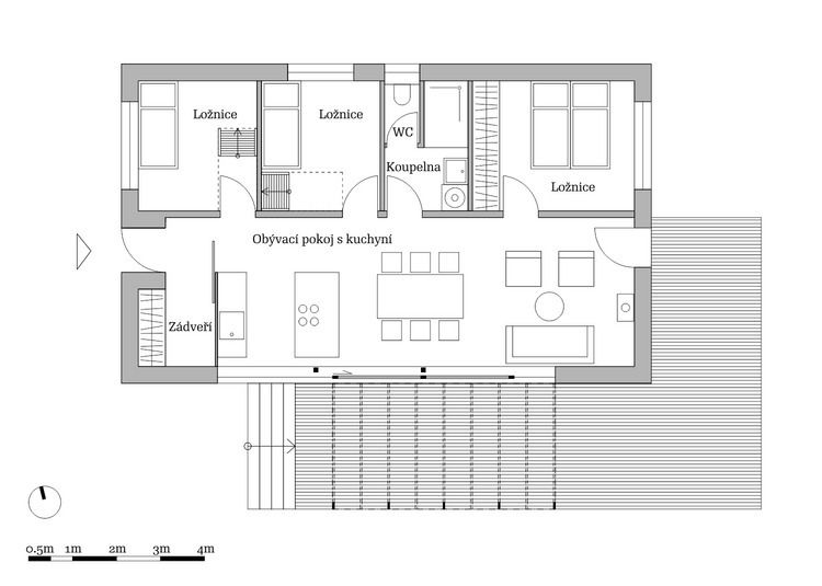 small house plan simple modern layout - Modern Tiny House Plans