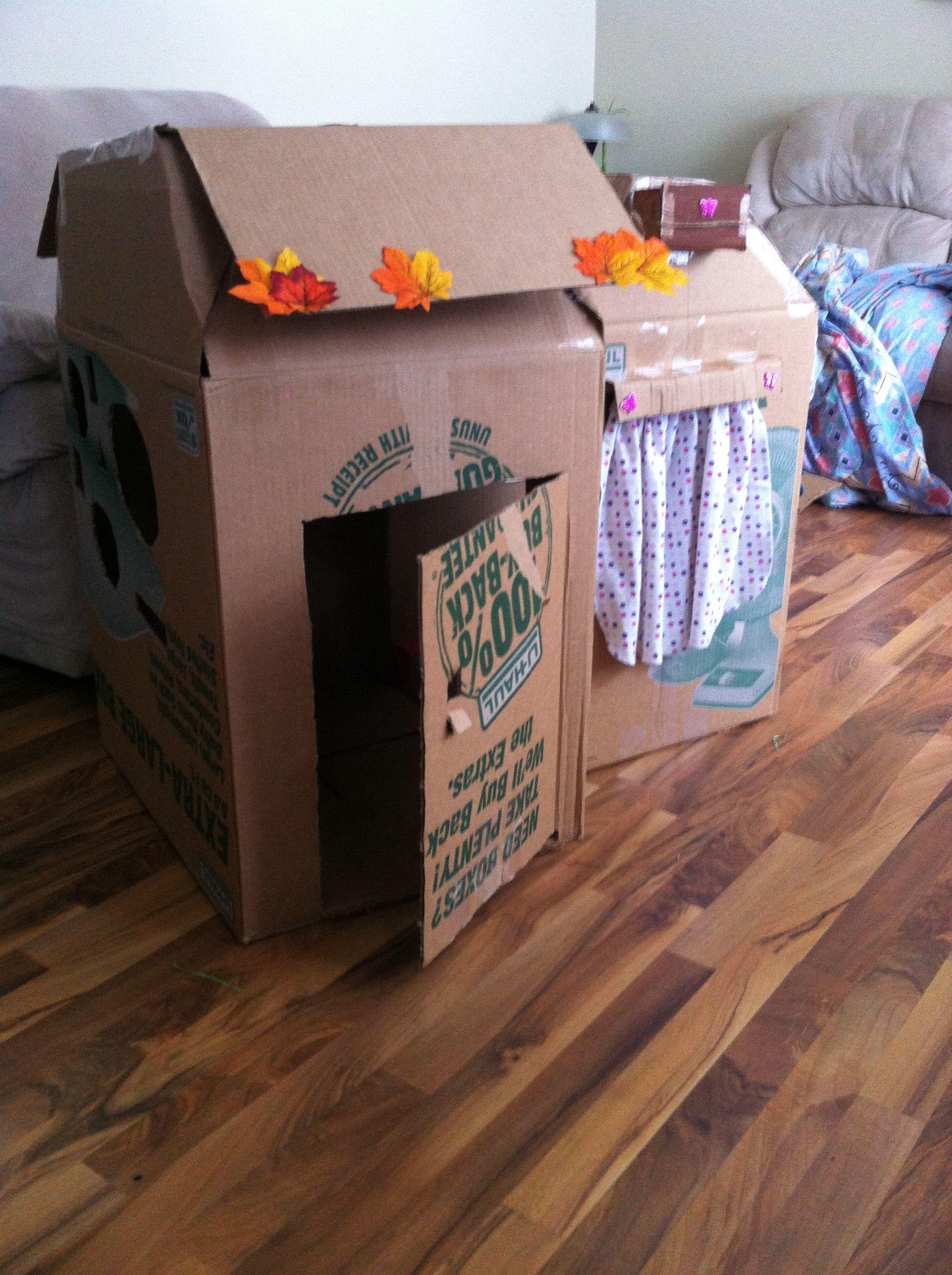 diy cardboard playhouse easy cheap fun for you're toddler