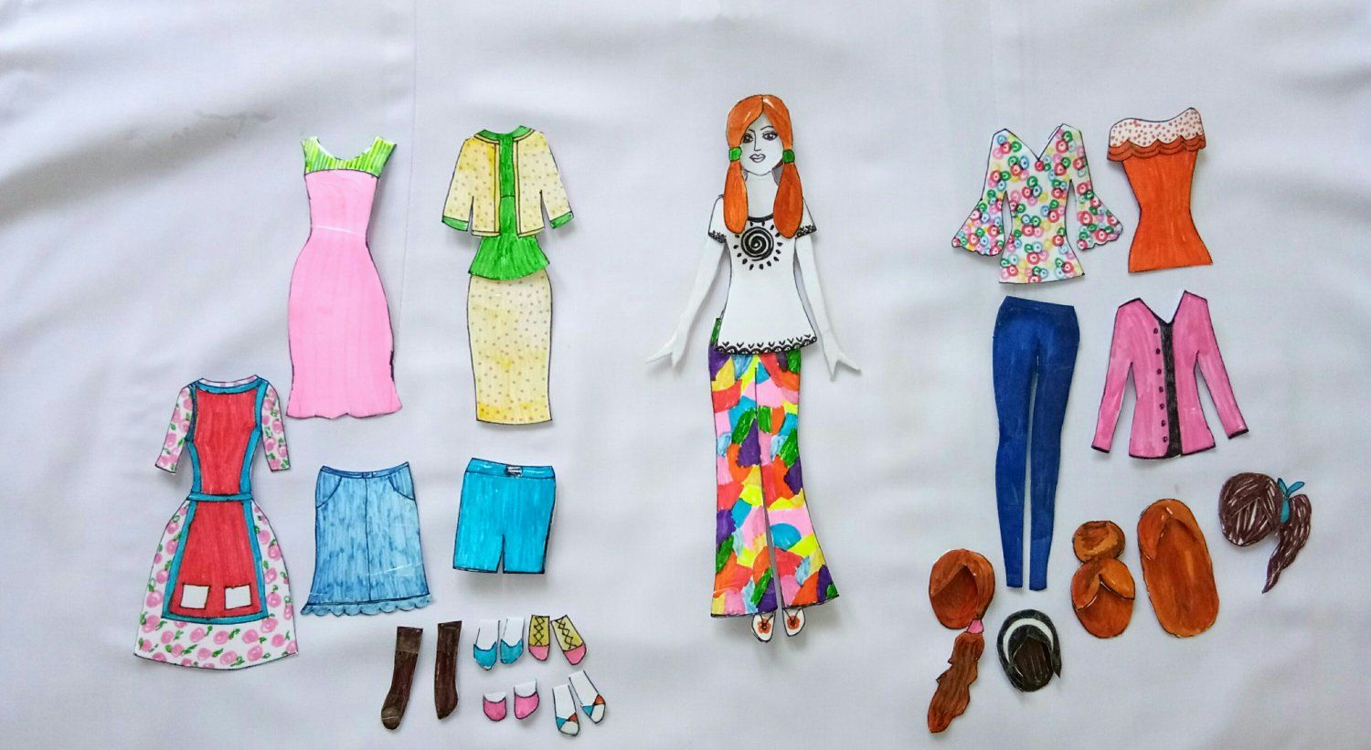 How To Make Paper Doll With Many Dresses Easy Craft Ideas Paper Dolls Paper Doll Making Paper Doll Dress