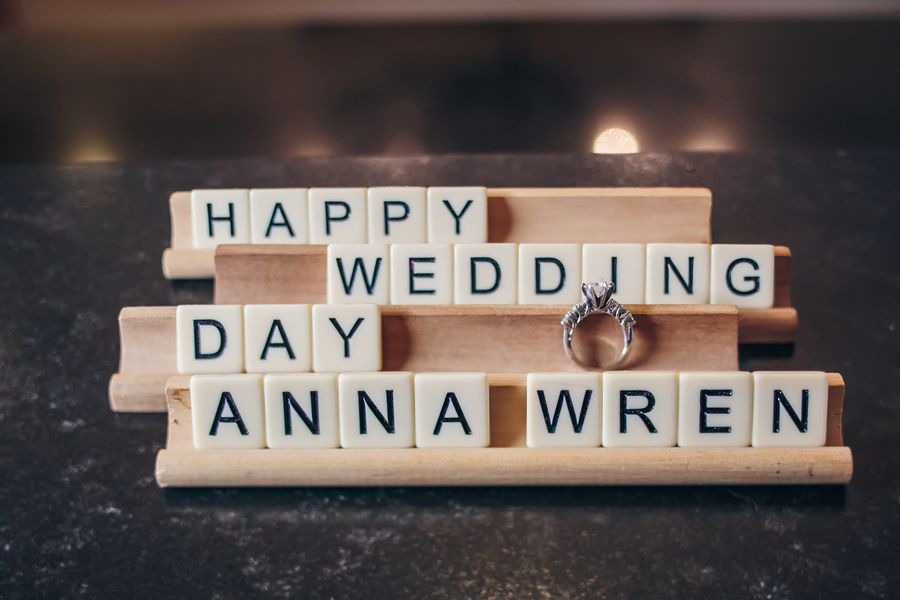 Charleston Wedding scrabble letters at Creek Club at I'On wedding by Richard Bell Photography