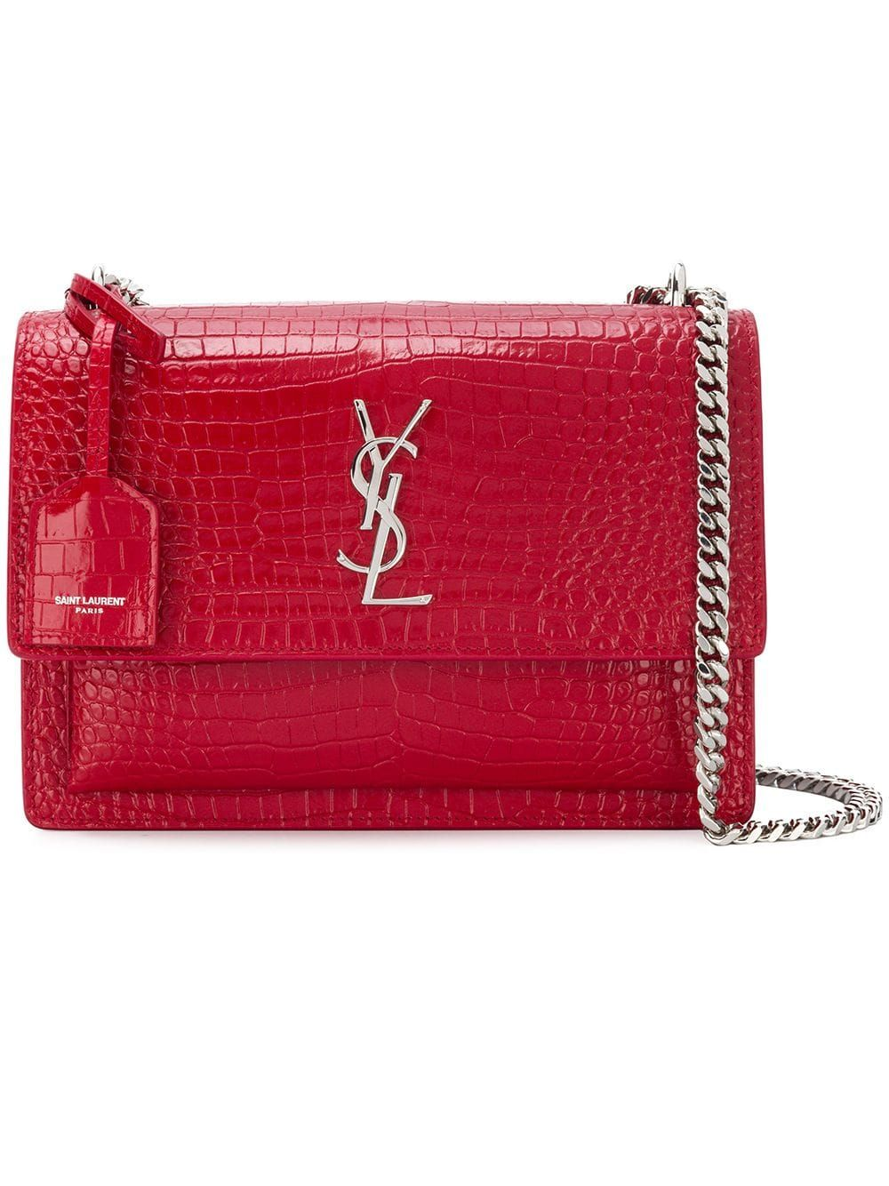 01bdb6539c0 Saint Laurent Sunset shoulder bag - Red | Products in 2019 | Ysl ...