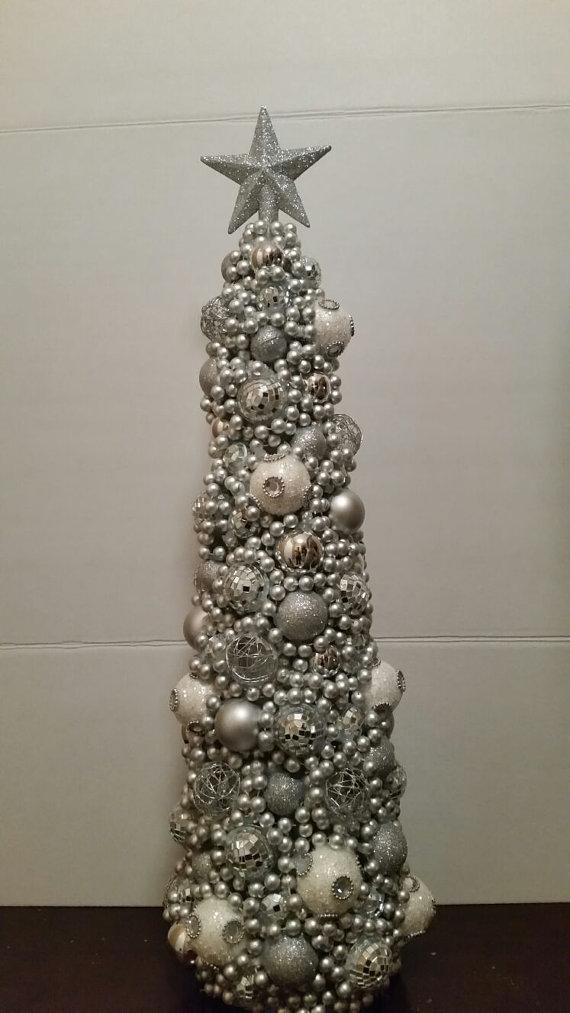 Elegante rbol de navidad de pieza central topiarios y - Arboles de navidad elegantes ...