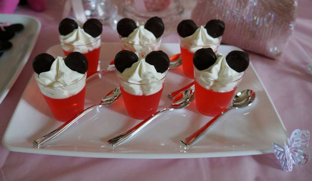 Minnie mouse butterflies roses baby shower party ideas - Postre para cumpleanos ...