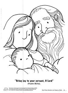 16+ Abraham and sarah have a baby coloring page HD